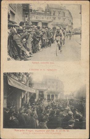 Épinal, Contrôle fixe, L'arrivée et la signature, Nancy-lès-Vosges, organi…