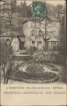 L'Ermitage, Rue des Jardiniers, Épinal, Broderies artistiques des Vosges