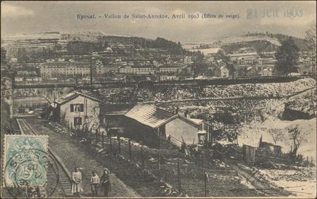 Épinal, Vallon de Saint-Antoine, Avril 1903 (Effets de neige)