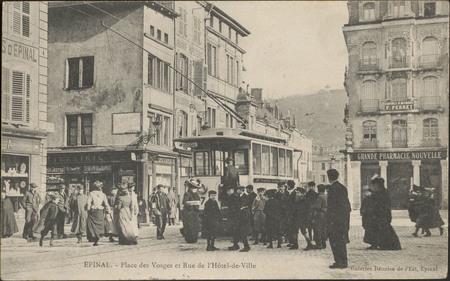 Épinal, Place des Vosges et Rue de l'Hôtel de Ville