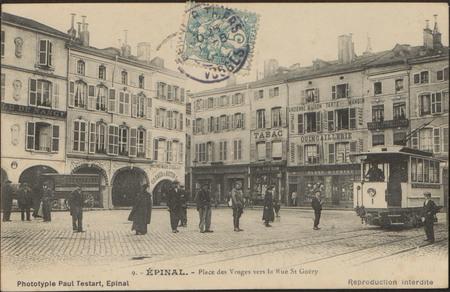 Épinal, Place des Vosges vers la Rue St-Goëry