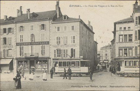 Épinal, La Place des Vosges et la Rue du Pont