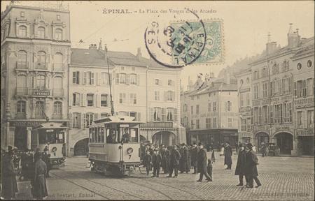 Épinal, La Place des Vosges et les Arcades