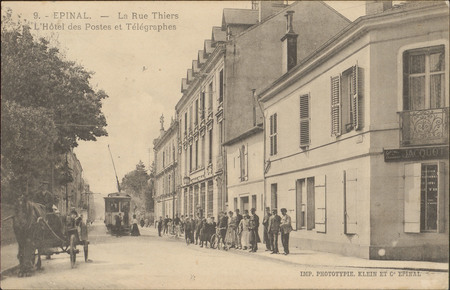 Épinal, La Rue Thiers, L'Hôtel des Postes et Télégraphes