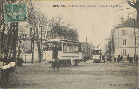 Épinal, Au Pont de la Loge-Blanche, Entrée de la Rue Thiers