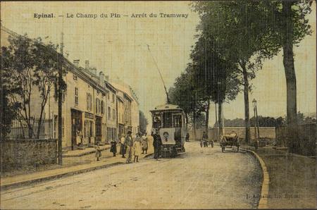 Épinal, Le Champ du Pin, Arrêt du Tramway