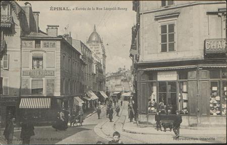 Épinal, Entrée de la Rue Léopold-Bourg