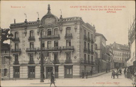 Grand Hôtel du Louvre et d'Angleterre, Rue de la Gare et Quai des Bons-Enf…