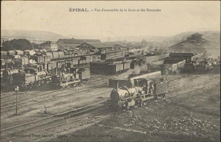 Épinal, Vue d'ensemble de la Gare et des Rotondes