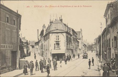 Épinal, Rue François de Neufchâteau et rue de la Faïencerie