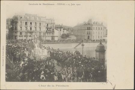 Cavalcade de Bienfaisance, Épinal, 15 Juin 1902, Char de la Peinture