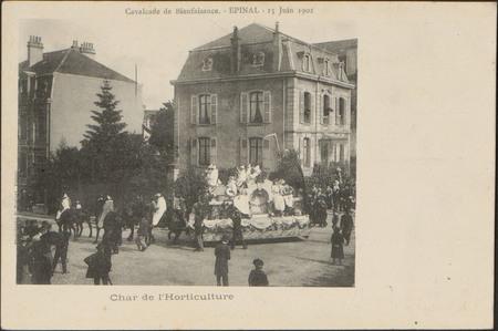 Cavalcade de Bienfaisance, Épinal, 15 Juin 1902, Char de l'Horticulture