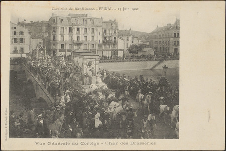Cavalcade de Bienfaisance, Épinal, 15 Juin 1902, Vue générale du Cortège, …