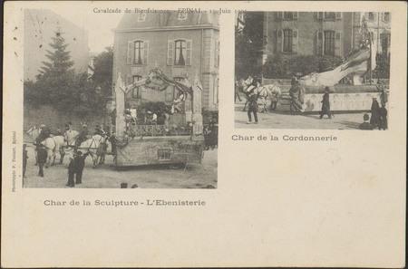 Cavalcade de Bienfaisance, Épinal, 15 Juin 1902, Char de la Sculpture, L'E…