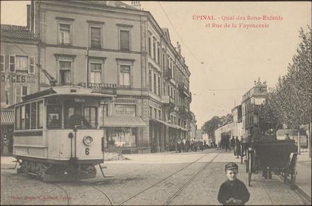 Épinal, Quai des Bons-Enfants et Rue de la Fayencerie