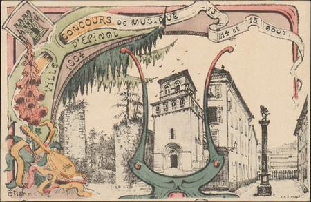 Concours de Musique 13, 14 et 15 août, Ville d'Épinal, 1904