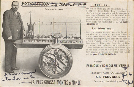 Exposition de Nancy 1909, La Plus Grosse Montre du Monde […]