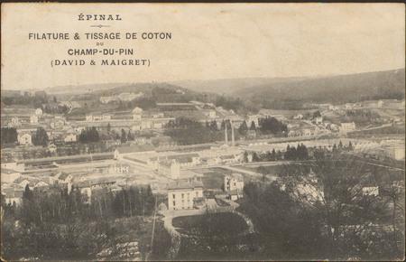 Épinal, Filature & Tiassage de coton du Champ-du-pin (David & Maig…