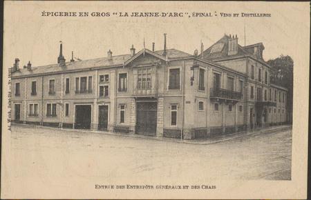 """Epicerie en Gros """" La Jeanne d'Arc"""", Épinal, Vins et distillerie, Entrée d…"""