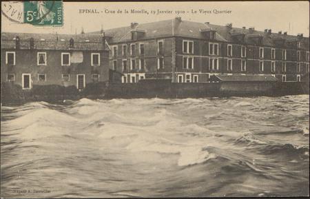 Épinal, Crue de la Moselle, 19 janvier 1910, Le Vieux Quartier