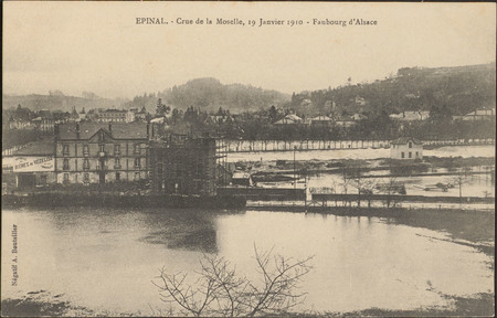 Épinal, Crue de la Moselle, 19 janvier 1910, Faubourg d'Alsace