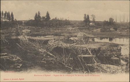 Environs d'Épinal, Aspect de la campagne de Bouzey après le désastre