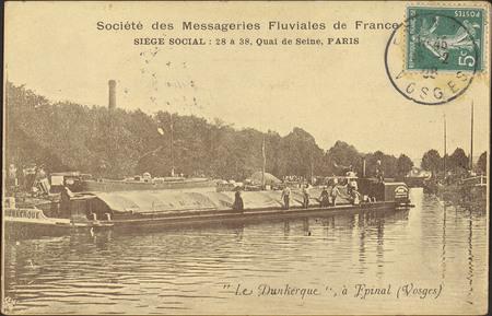 """Société des Messageries fluviales de France, […], """"Le Dunkerque"""", à Épinal…"""