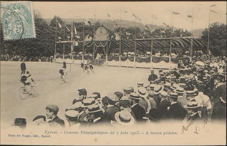 Épinal, Courses Vélocipédique du 7 Juin 1903, À toutes pédales