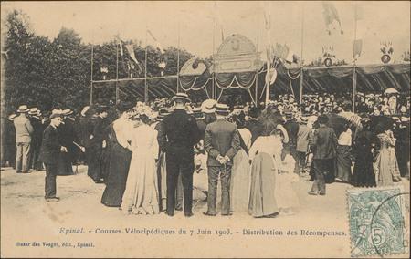 Épinal, Courses Vélocipédique du 7 Juin 1903, Distribution des Récompenses
