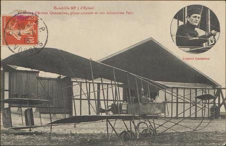Escadrille MF5 d'Épinal, Le Maître d'Arme Quennehen, pilote-aviateur et so…