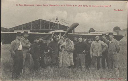 Le Sous-Lieutenant aviateur André Quennehen tué à Velizy le 1er Juin 1916 …