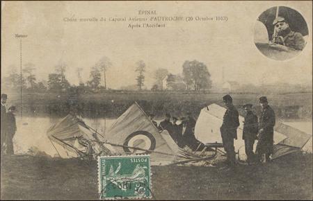 Épinal, Chute mortelle du Caporal Aviateur d'Autroche (20 octobre 1913, Ap…