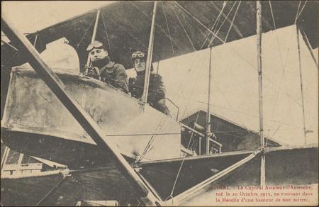 Épinal, Le Caporal Aviateur d'Autroche tué le 20 Octobre 1913, en tombant …
