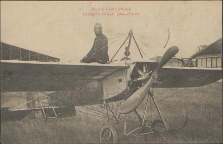 Escadrille BO9 d'Épinal, Le Caporal Pecquet, pilote-aviateur