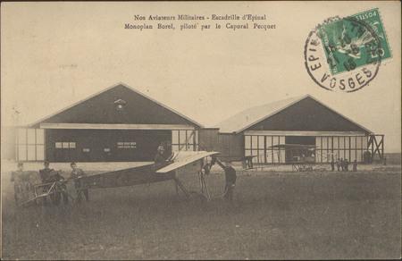 Nos Aviateurs Militaires, Escadrille d'Épinal, Monoplan Borel, piloté par …