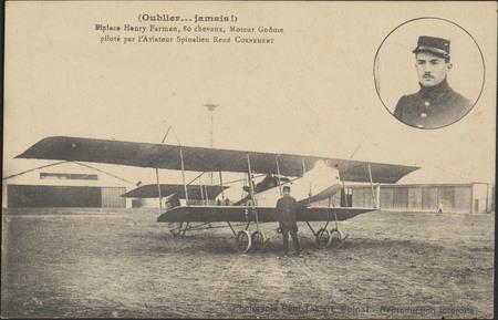 (Oublier… jamais !), Biplace Henry Farman, 80 chevaux, Moteur Gnôme piloté…