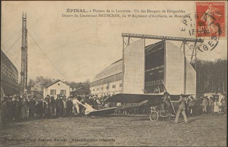 Épinal, Plateau de la Louvroie, Un des Hangars de Dirigeables, Départ du L…