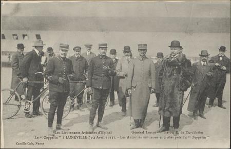 """Les Lieutenants Aviateurs d'Épinal, Le """"Zeppelin"""" à Lunéville (3-4 Avril 1…"""