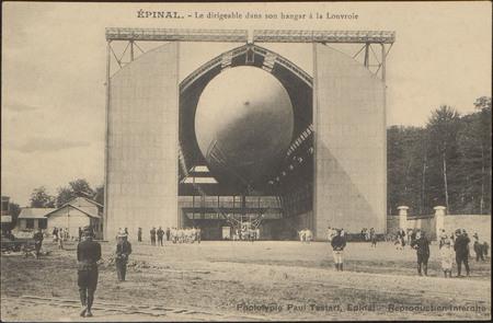 Épinal, Le dirigeable dans son hangar à la Louvroie