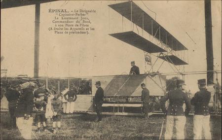 """Épinal, Le Dirigeable """"Capitaine Ferber"""", Le Lieutennat Joux, Commandant d…"""