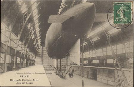 Épinal, Dirigeable Capitaine Ferber dans son hangar