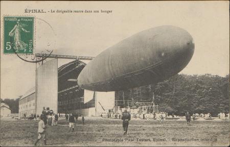 Épinal, Le dirigeable rentre dans son hangar