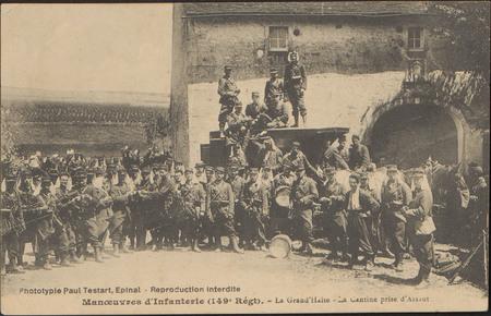 Manœuvres d'Infanterie (149e Regt), La Grand'Halte, La Cantine prise d'Ass…