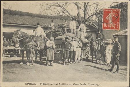 Épinal, 5e Régiment d'Artillerie, Corvée de Fourrage