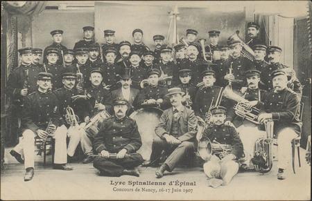 Lyre Spinalienne d'Épinal, Concours de Nancy, 16,17 Juin 1907