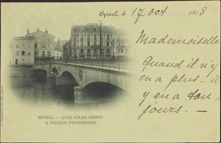 Épinal, Quai Jules Ferry & Maison Froereisen