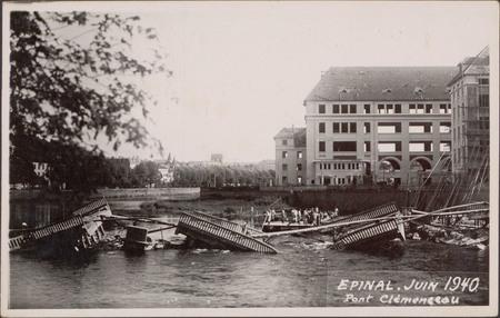 Épinal, Juin 1940, Pont Clémenceau