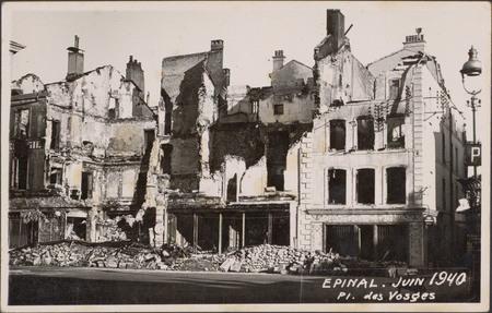 Épinal, Juin 1940, Pl. des Vosges