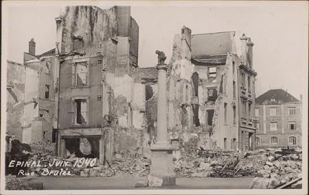 Épinal, Juin 1940, Rue Brûlée