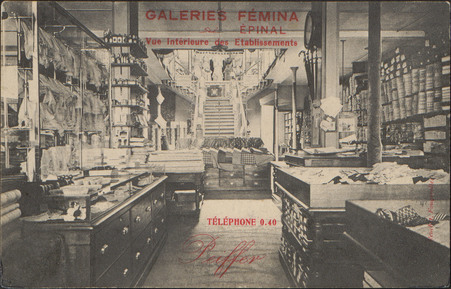 Galeries Fémina, Épinal, Vue intérieure des Etablissements […]